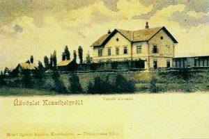 Keszthely régi állomása, ahol Festetics Tasziló külön várótermet kapott